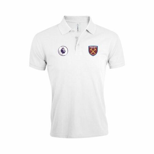 West Ham Polo Majica U Beloj Boji Sa Grbom Premier Lige