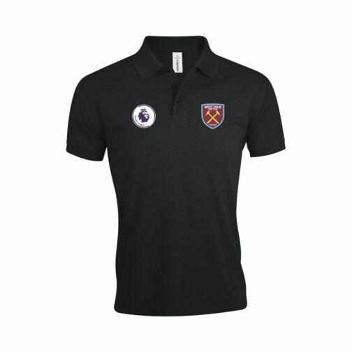 West Ham Polo Majica U Crnoj Boji Sa Grbom Premier Lige