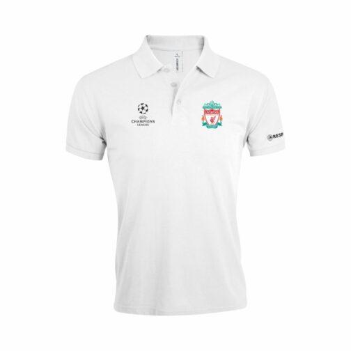 Liverpool Polo Majica U Beloj Boji