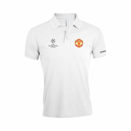 Manchester United Polo Majica U Beloj Boji