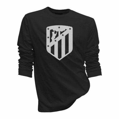 Atletico Madrid Sportski Duks Crne Boje Sa Printom Velikog Grba U Jednoj Boji