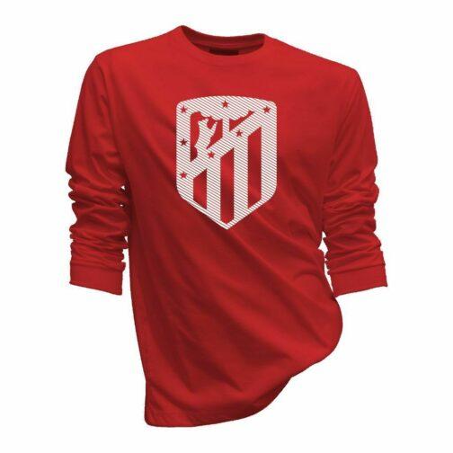 Atletico Madrid Sportski Duks Crvene Boje Sa Printom Velikog Grba U Jednoj Boji