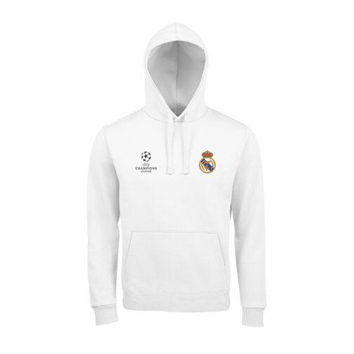 Real Madrid Duksa Sa Kapuljačom u Beloj Boji