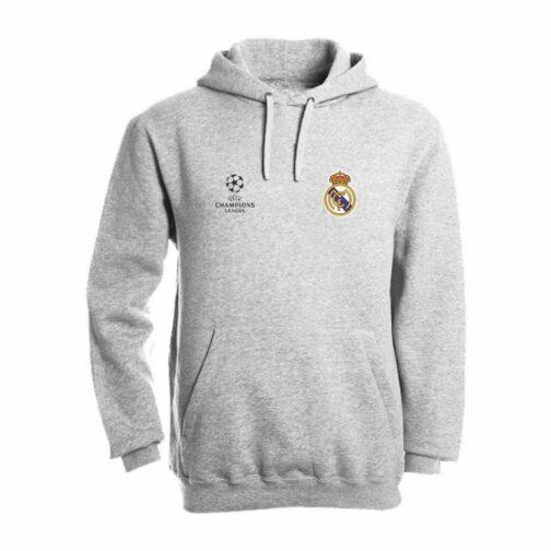 Real Madrid Duks Sa Kapuljačom (Svetlo Sivi)