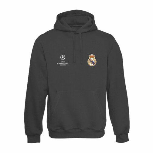 Real Madrid Duksa Sa Kapuljačom u Tamno Sivoj Boji