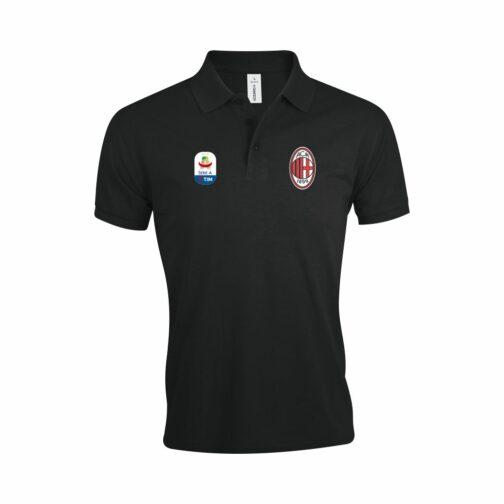 AC Milan Polo Majica (Crna) (Seria A)