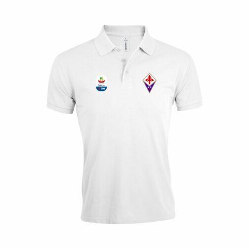 Fiorentina Polo Majica U Beloj Boji I Sa Serie A Logom