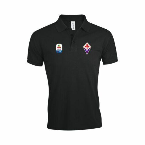 Fiorentina Polo Majica U Crnoj Boji I Sa Serie A Logom