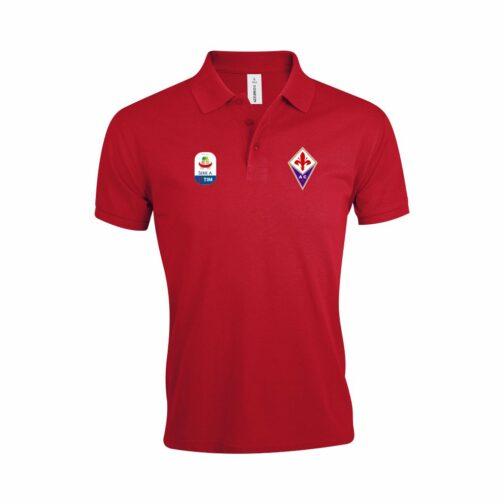 Fiorentina Polo Majica U Crvenoj Boji I Sa Serie A Logom