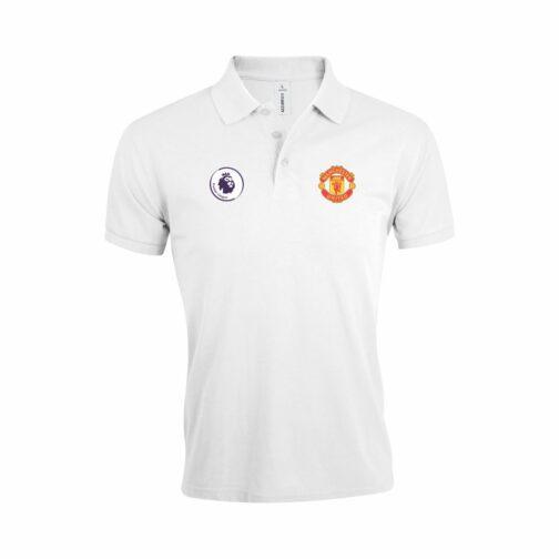 Manchester United Polo Majica U Beloj Boji I Sa Grbom Premier Lige