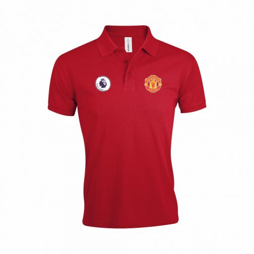 Manchester United Polo Majica U Crvenoj Boji I Sa Grbom Premier Lige