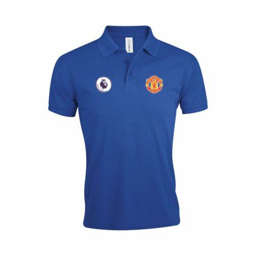 Manchester United Polo Majica U Plavoj Boji I Sa Grbom Premier Lige
