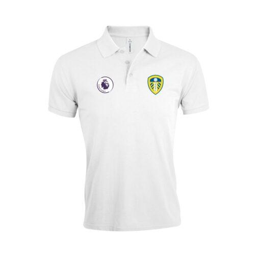Leeds United Polo Majica U Beloj Boji I Sa Grbom Premier Lige