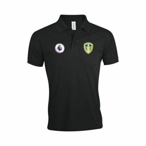 Leeds United Polo Majica U Crnoj Boji I Sa Grbom Premier Lige