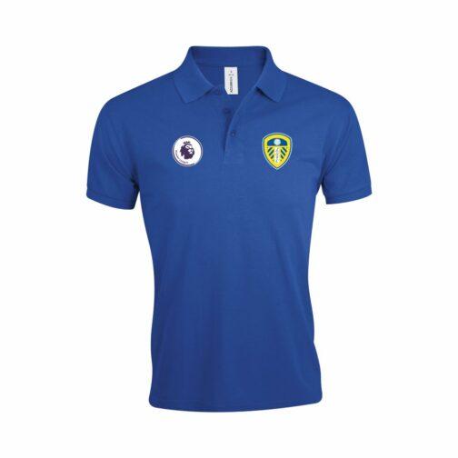Leeds United Polo Majica U Plavoj Boji I Sa Grbom Premier Lige