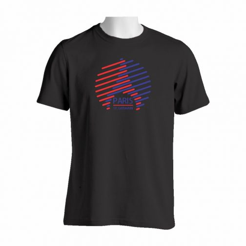 PSG Kula Majica Crne Boje Sa Dvobojnim Printom