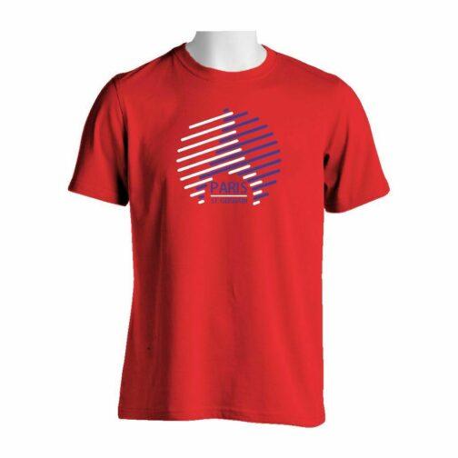 PSG Kula Majica Crvene Boje Sa Dvobojnim Printom