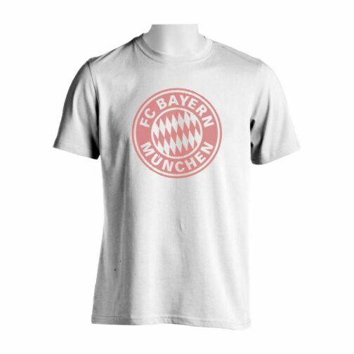 Bayern Munchen Majica Bele Boje Sa Printom Velikog Grba U Crtama