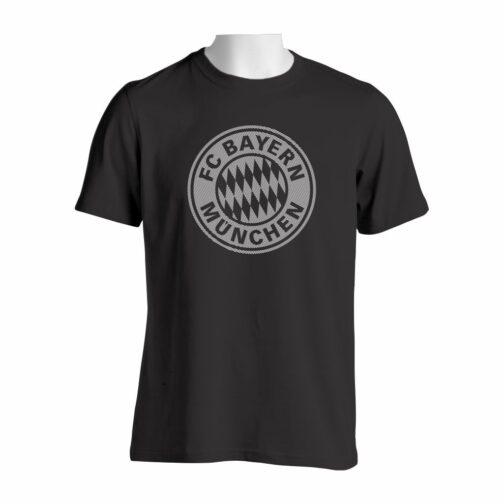 Bayern Munchen Majica Crne Boje Sa Printom Velikog Grba U Crtama