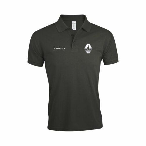 Renault Polo Majica U Tamno Sivoj Boji