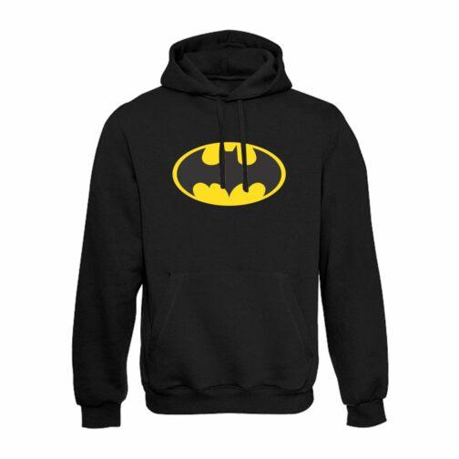 Batman Duks Sa Kapuljačom Sa Printom Batman Logoa Na Grudima.