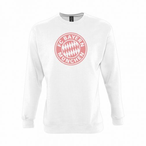 Bayern Munchen Veliki Grb Dukserica U Beloj Boji