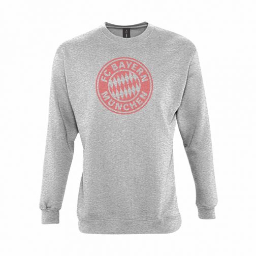 Bayern Munchen Veliki Grb Dukserica U Svetlo Sivoj Boji
