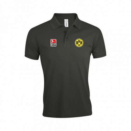 BVB Polo Majica Bundesliga U Tamno Sivoj Boji