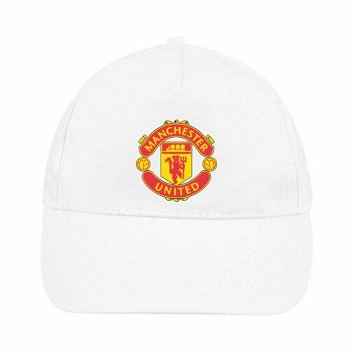 Manchester United Kačket u beloj boji sa printom napred