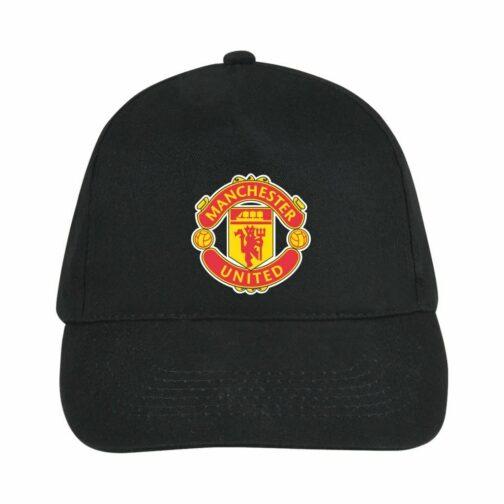 Manchester United Kačket u crnoj boji sa printom napred