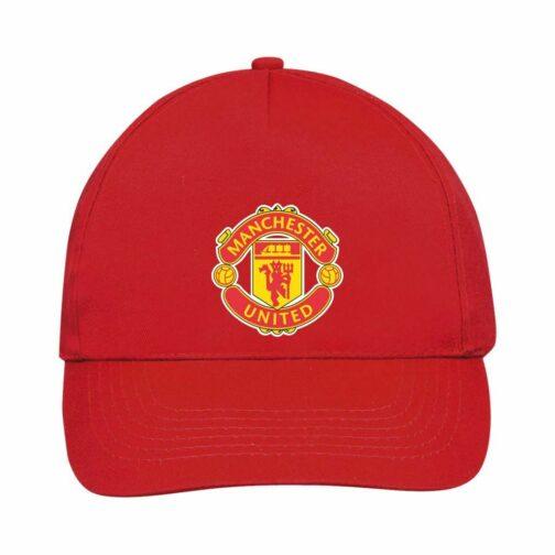 Manchester United Kačket u crvenoj boji sa printom napred