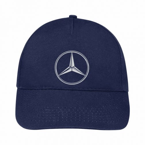 Mercedes Kačket u teget boji sa printom napred