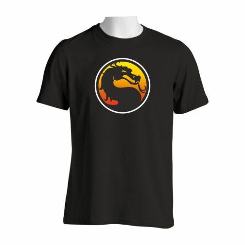 Majica crne boje sa printom Mortal Kombat Logo