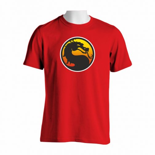 Majica crvene boje sa printom Mortal Kombat Logo
