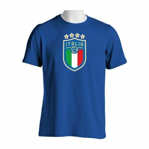 Italija Veliki Grb Majica U Plavoj Boji